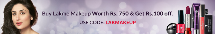 Buy Lakme Cosmetics worth Rs 750 and get 10% Off at Purplle